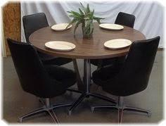 70s kitchen avocado green chromcraft vinyl chrome dining set 6