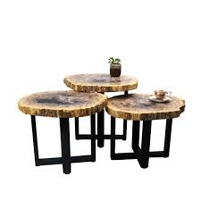 petrified wood end table natural petrified wood american country style loft end table nesting
