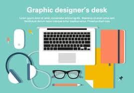 Graphic Designer Desk Desk Free Vector Art 4246 Free Downloads