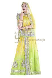 rajputi dress green lime shaded gotta patti work poshak yuvti online