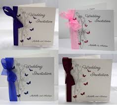 wedding invitations with ribbon personalised butterfly wedding invitations ribbon day evening