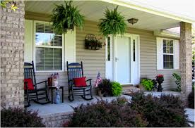 front porch decorating ideas love the numbered buckets and the punch of red porch pinterest