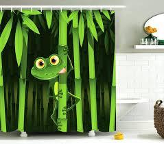 Coolest Shower Curtains Unique Shower Curtains Frog On Bamboo Coolest Shower Curtains