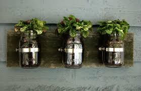 mason jar wall planter organizer decor