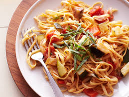 linguine with ratatouille sauce recipe quick from scratch herbs