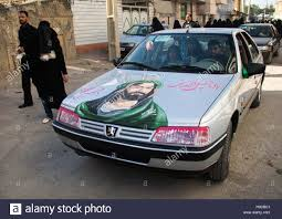 peugeot pars tuning the portrait of abbas bin ali on a peugeot car for ashura stock