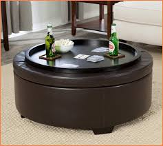 round leather coffee table round leather ottoman coffee table home design ideas