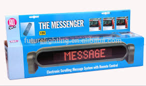 lighted message board signs 7x50 dots indoor and outdoor programmed scrolling messages led car