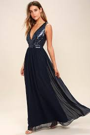 lovely navy blue maxi dress sequin maxi dress plunge sequin