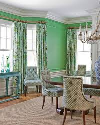 Green Dining Rooms Green Walls Eclectic Dining Room Stark Paint Chelsea Green