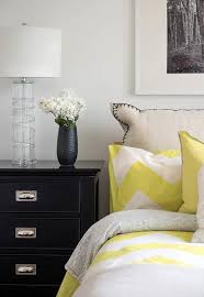 Black And White Chevron Bedding Yellow And Black Bedroom With Yellow Chevron Bedding