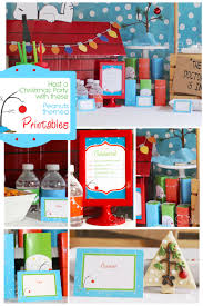 free charlie brown christmas party invitation and ideas