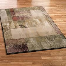ornate block round area rug