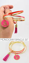 Monogram Bangle Bracelet Monogram Bangle Bracelet Stack Dream A Little Bigger