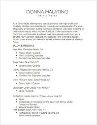 Fashion Stylist Resume Examples by Hairdresser Resume Examples