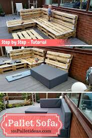 How To Make Pallet Patio Furniture by Diy Pallet Sectional Sofa Tutorial