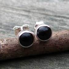 onyx stud earrings onyx earrings studs black onyx sterling silver stud earrings