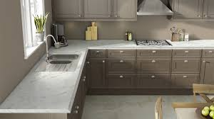 Gray Cabinet Kitchen by Wilsonart U0027s Visualizer Calcutta Marble Laminate With Gray