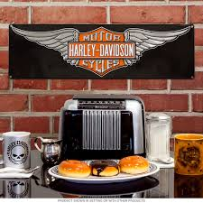 motorcycle home decor harley davidson wings logo tin sign motorcycle decor