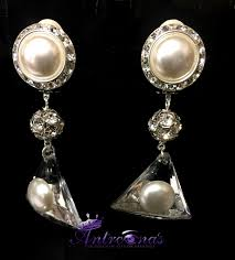 pearl clip on earrings pearl comfortable clip on earring stride