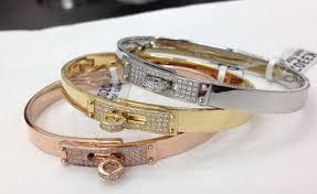bracelet hermes price images Hermes kelly bracelet diamonds in rose gold white gold yellow jpg