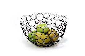 metal fruit basket china supplier home decor modern metal wire circles fruit