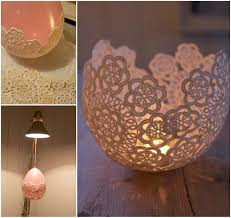 decorative doily candle holders handmade in minutes