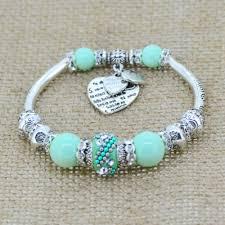 heart charm bangle bracelet images Silver plated love heart charm beads bracelet embrace luxury jpg