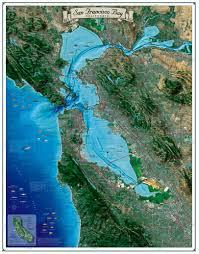 san francisco delta map san francisco bay map coastal california series