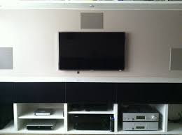 home theater console furniture besta depth adapted with updates on ventilation ikea hackers