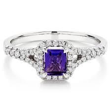 large amethyst diamond white gold 18ct white gold diamond amethyst ring 0011862 beaverbrooks the