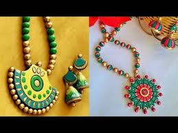 Jewelry Making Design Ideas Latest Terracotta Jewelry Set Design Ideas Youtube