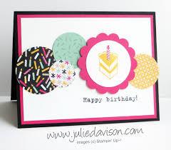 Sketch Birthday Card Julie S Sting Spot Stin Up Project Ideas By Julie