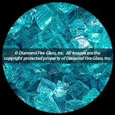 Fire Pit Glass by Bahama Blue Nugget Diamond Fire Pit Glass 25 Lb Nugget Package