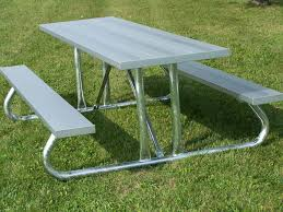 Picnic Table With Benches Aluminum Picnic Tables Metal Park Tables National Recreation