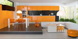 couleur pour cuisine moderne awesome cuisine de couleur vert et oronge photos design trends