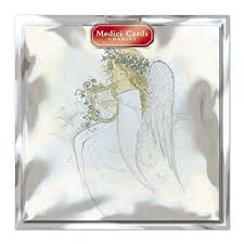 medici charity christmas cards med0188 pack of 8 cards angel