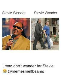 Stevie Wonder Memes - stevie wonder stevie wander lmao don t wander far stevie meme