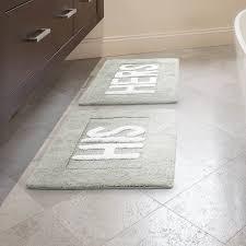 Rug Bathroom Jean His And Hers Cotton 2 Bath Rug Set Reviews