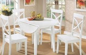 white round kitchen table with wood top