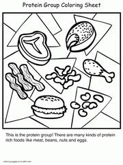 coloring pages healthy and unhealthy food