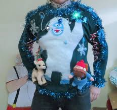 custom 3 d furry fuzzy abominable snowman light up tacky ugly