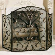 stunning black iron fireplace screen contemporary best idea home