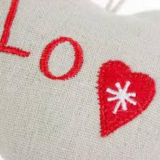 Fabric Heart Decorations Fabric Hanging Love Heart Decoration 10cm Decorations For