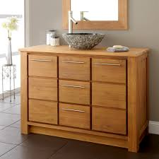 Modern Wood Bathroom Vanity Astonishing Modern Bathroom Vanities With Tops Teak Wood Materials