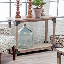 Living Room Console Table Belham Living Edison Reclaimed Wood Console Table Hayneedle