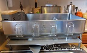 kitchen dish rack ideas furniture brushed stainless steel simplehuman dish rack for