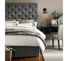 Pottery Barn Upholstered Bed Lorraine Tufted Tall Bed Headboard Pottery Barn Textured Basket
