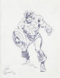 captain america john buscema the lost drawings click on pics