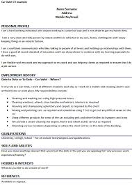 Hobbies And Interests On A Resume Examples by Car Valet Cv Example Forums Learnist Org